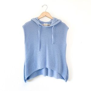 Jijil Knit Sleeveless Hooded Sweater Powder Blue
